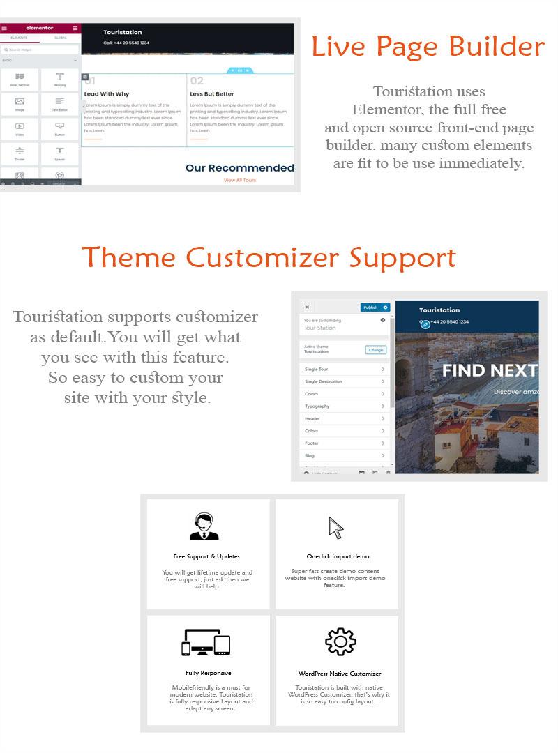 Touristation - Tours & Travel Booking WordPress Theme - Features Image 5