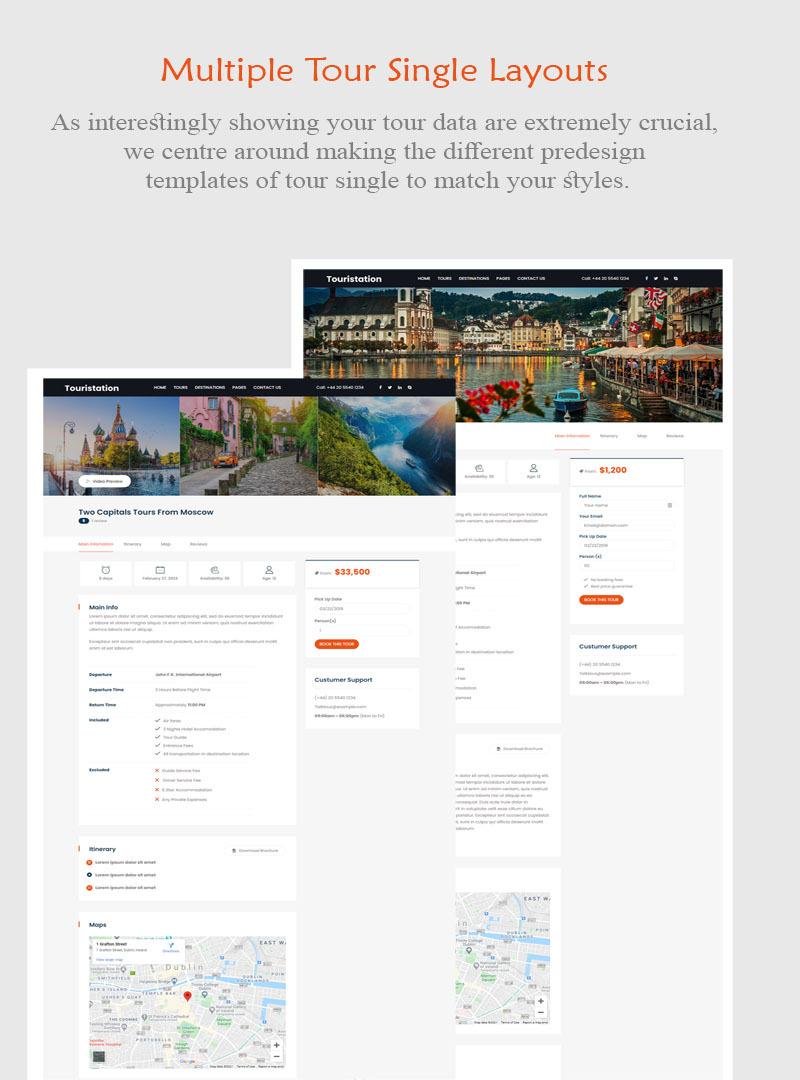 Touristation - Tours & Travel Booking WordPress Theme - Features Image 2