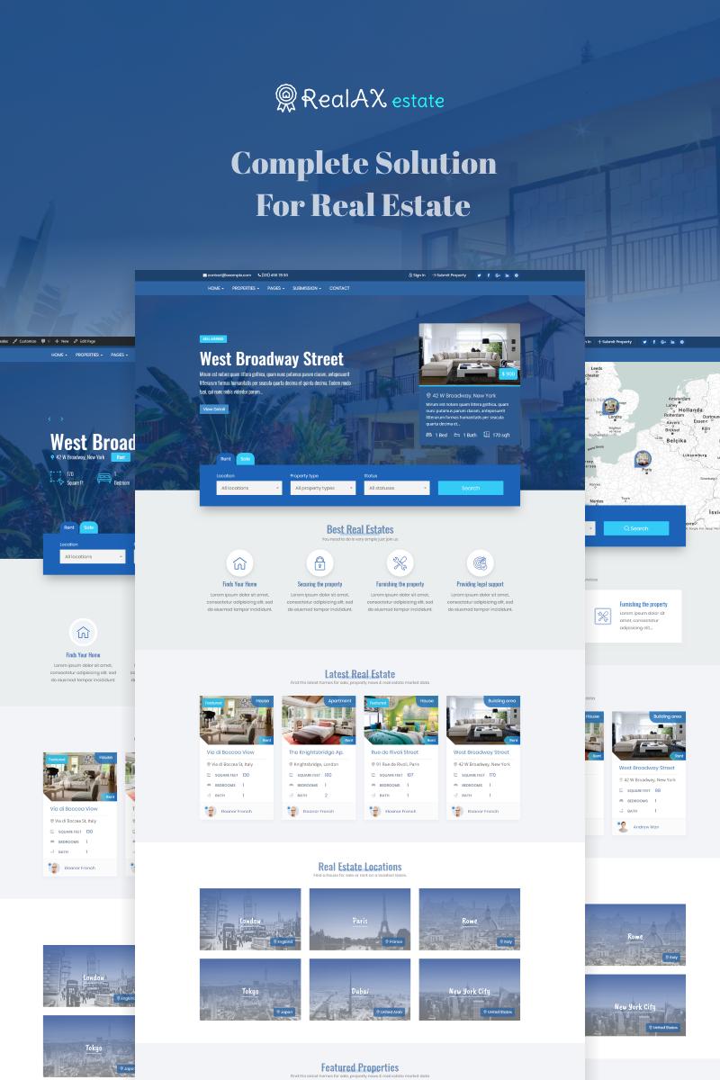 Адаптивный шаблон №73622 на тему недвижимость, агентство недвижимости