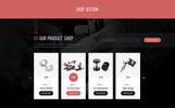 Responsivt Tattoo Body Art Bootstrap Landing Page-mall