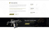 Gun Shop HTML Template Website Template