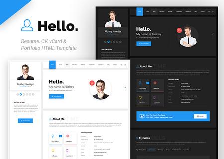 Hello Resume - CV, vCard & Portfolio HTML
