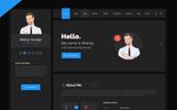 Hello Resume - CV, vCard & Portfolio HTML Template Website Template