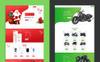 Responsivt Lander Product Offer Landing Page-mall En stor skärmdump
