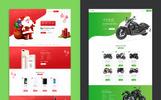 Responsivt Lander Product Offer Landing Page-mall