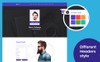 Its Me Resume, CV, vCard & Portfolio Landing Page Template Big Screenshot