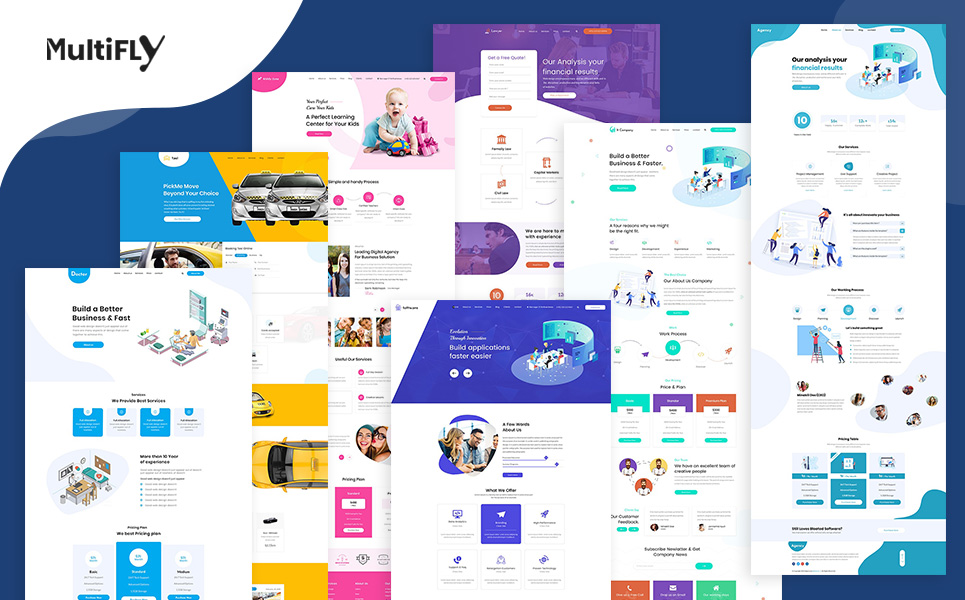 Multifly Startup HTML Landing Page Template