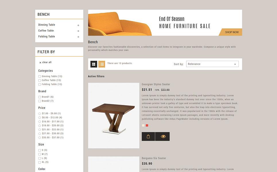 Tema para prestashop - Categoría: Bodas y eventos - versión para Desktop
