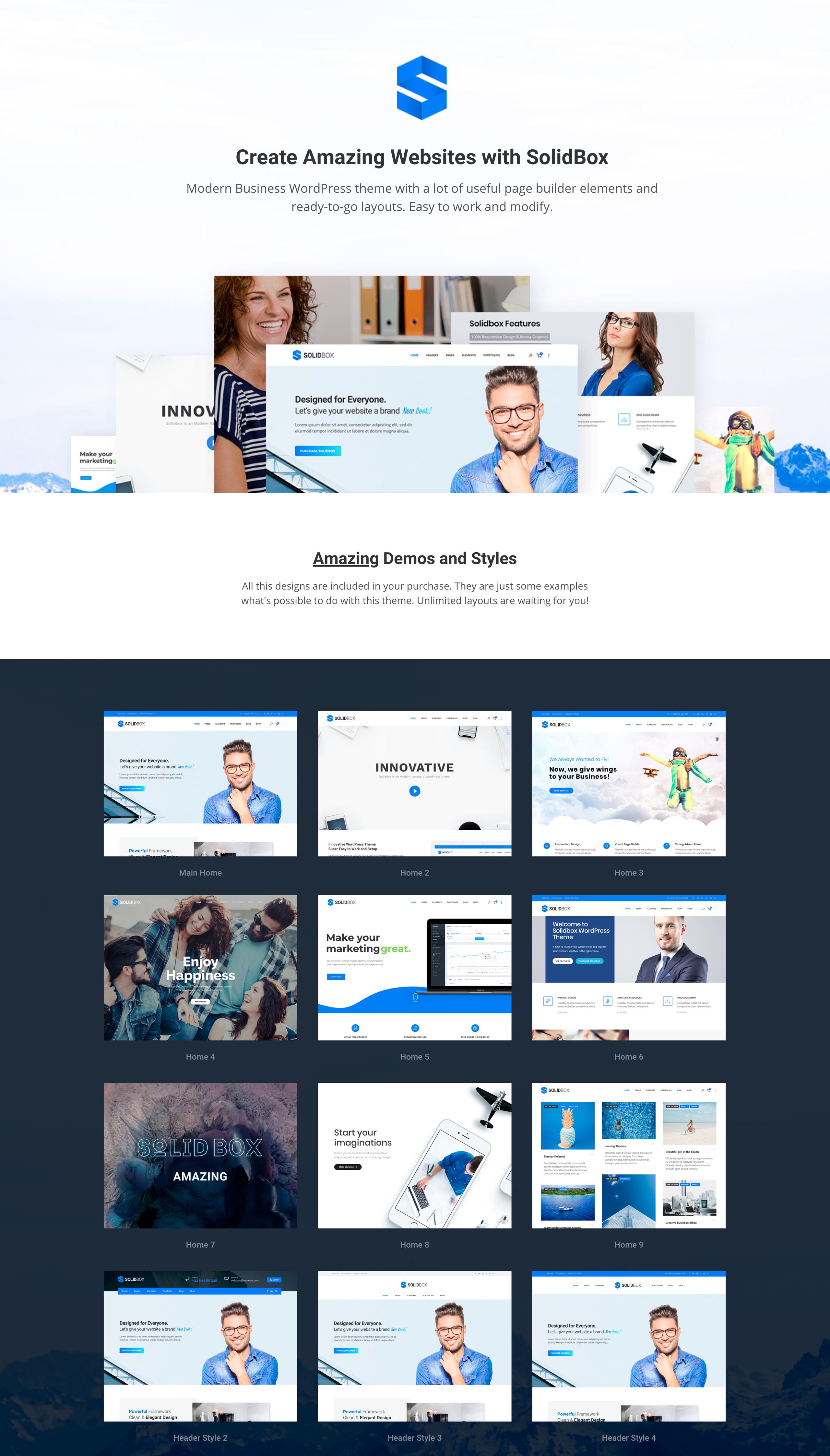 SolidBox | Clean Modern Business WordPress Theme